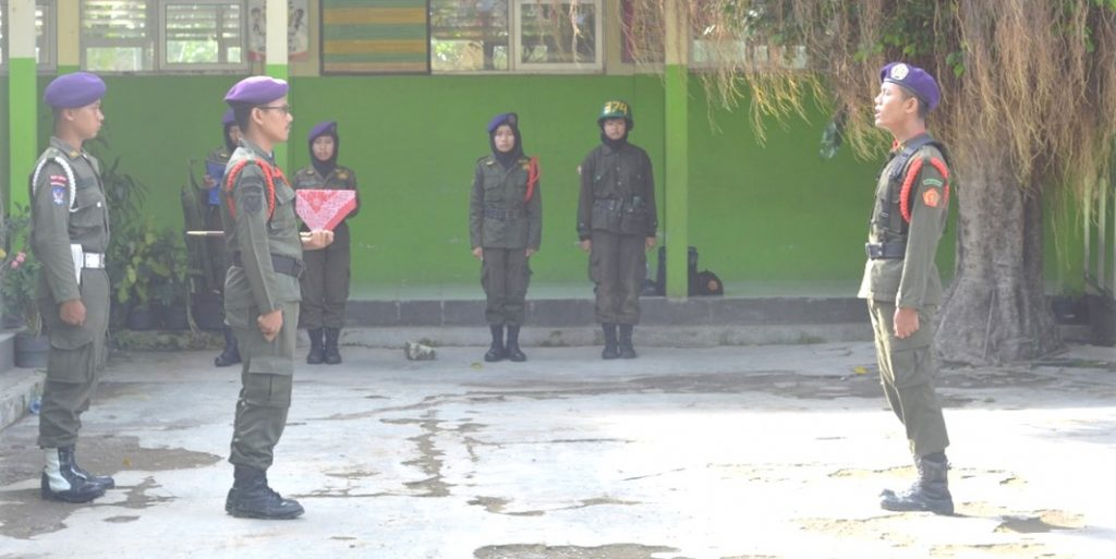 Upacara penutupan PRADIKSAR Yudha XLII Resimen Mahasiswa Mahakarta Satuan Universitas PGRI Yogyakarta