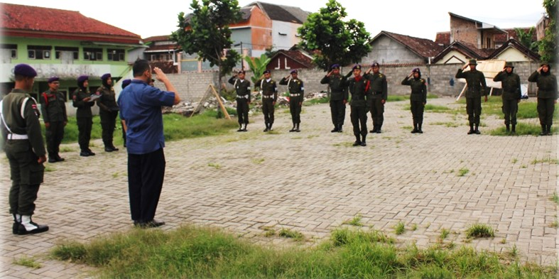 Upacara Pembukaan PRADIKSAR Yudha XLII Resimen Mahasiswa Mahakarta Satuan Universitas PGRI Yogyakarta