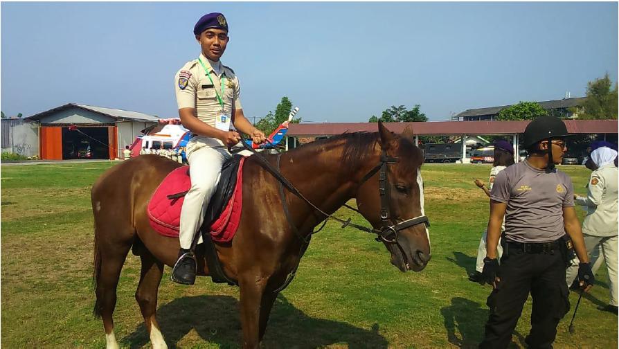 Berkuda yang dilaksanaan di Polrestabes Semarang